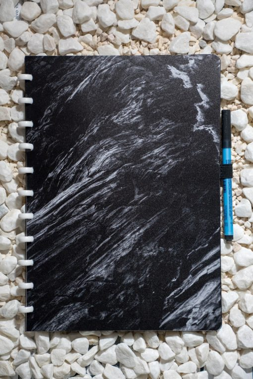 A4 - Ashes - White rings - Esquoia - Reusable Notebooks (6)