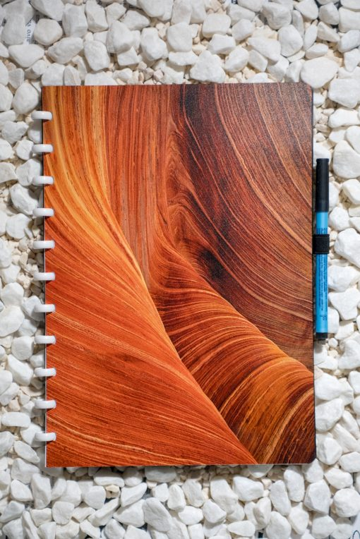 A4 - Dunes - White rings - Esquoia - Reusable Notebooks