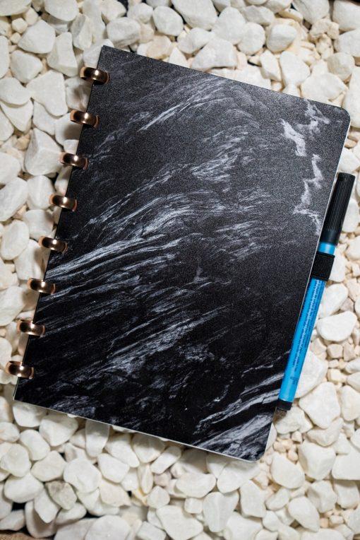 A5 - Ashes - Aluminium rings - Esquoia - Reusable notebook