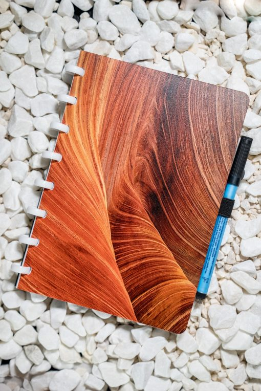 A5 -Dunes - White rings - Esquoia - Reusable notebook