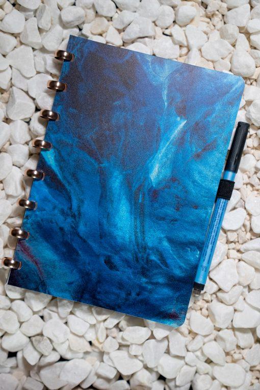 A5 -Waters - Aluminium rings - Esquoia - Reusable notebook