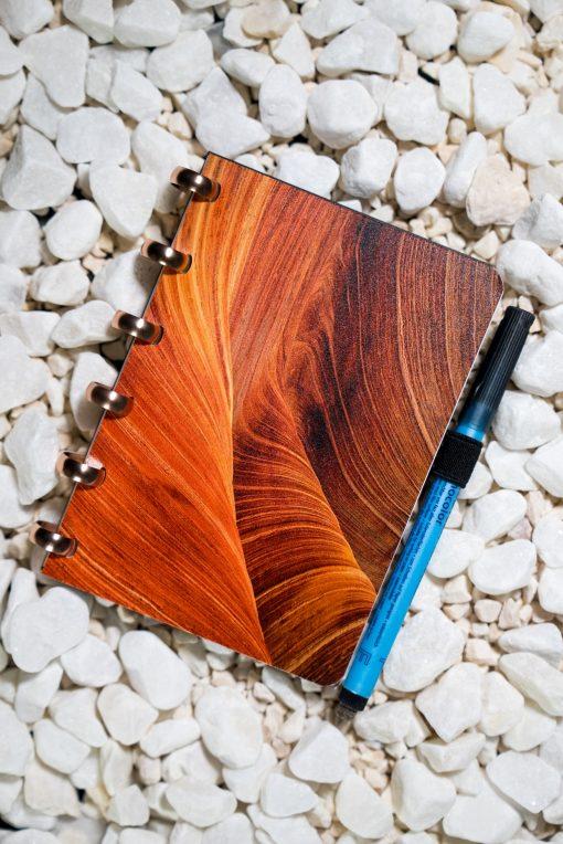 A6 - Dunes - Aluminium rings - Esquoia - Reusable Notebook