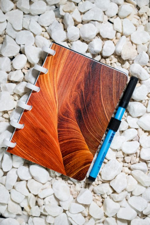 A6 - Dunes - White rings - Esquoia - Reusable Notebook