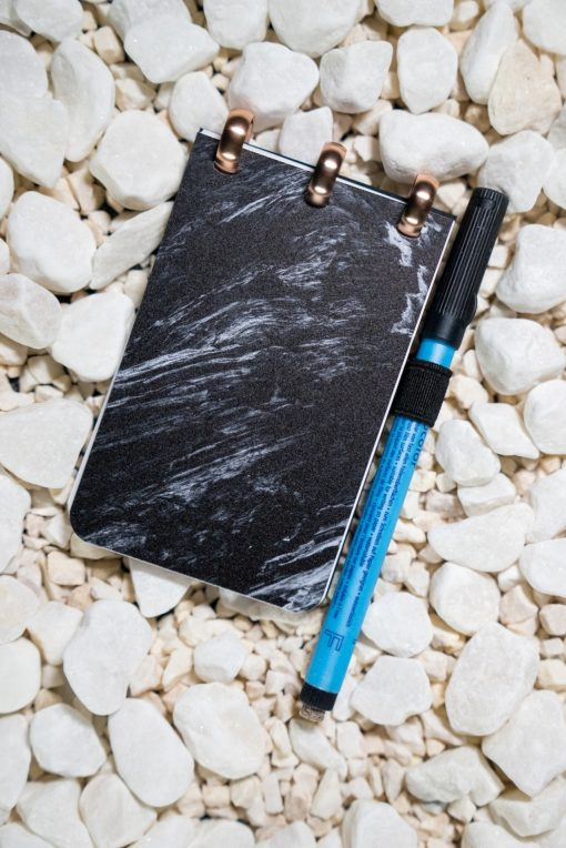 Pocket - Ashes - Aluminium rings- ESQUOIA - Reusable Notebook