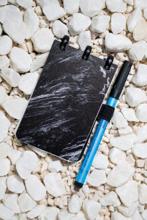Pocket - Ashes - Black rings - ESQUOIA - Reusable Notebook