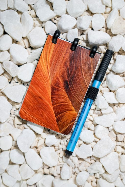 Pocket - Dunes - Black rings - ESQUOIA - Reusable Notebook