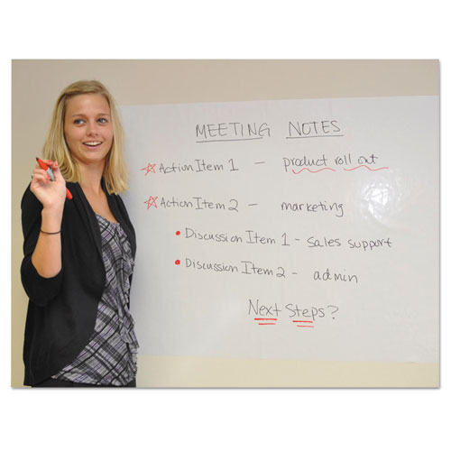 Dry erase self cling whiteboard rolls