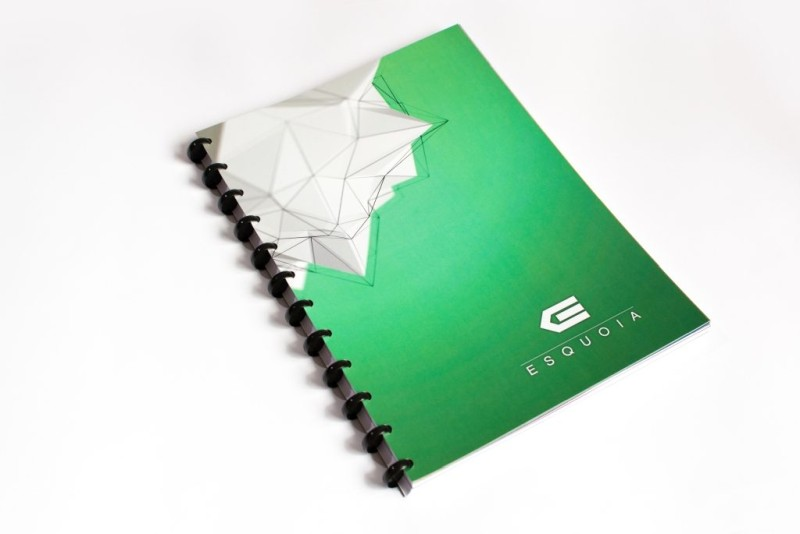 Whiteboard notebook ESQUOIA Classic A4 Green