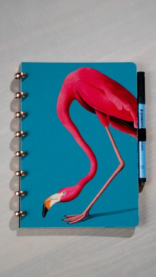 Esquoia Reusable Notebook - Flamingo - With Aluminium rings