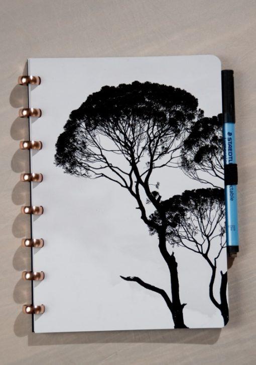 Esquoia Reusable Notebook - Tree - With Aluminium rings