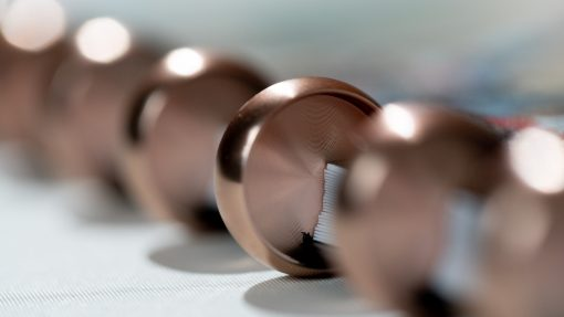 Rose Gold Auliminium 16mm rings Esquoia 4